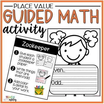 Place Value Guided Math Activity Zookeepers