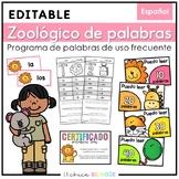 Zoológico de Palabras de Uso Frecuente {Editable}