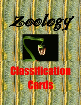 Zoology Classification Cards
