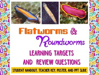 Zoology: Flatworms and  Roundworms Learning Targets and Re