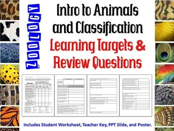 Zoology Intro to Animals and Classification Learning Targets & Review Questions