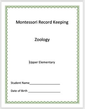 Zoology - Montessori Record Keeping