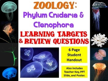 Zoology: Phylum Cnidaria and Ctenophora  Learning Targets