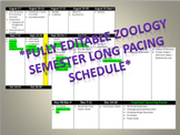 Zoology Semester Long Pacing Guide