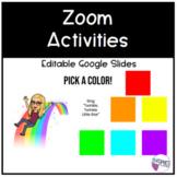 Zoom Activities | EDITABLE Google Slides | FREEBIE