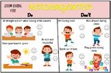 Zoom Class Rules Kindergarten