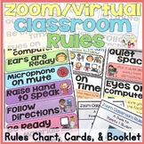 Zoom/Virtual Classroom Rules Chart & Cards