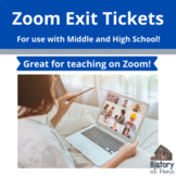 Exit Tickets for Use on Zoom with Middle and High School Grades