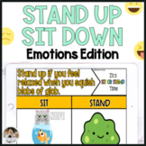 Zoom Games Emotions Stand Up Sit Down for Google Slides™