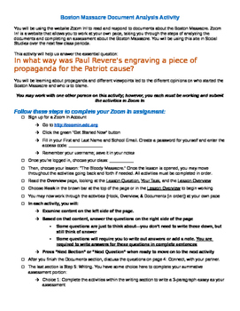 Zoom In! for Social Studies! Instructions for Self-Paced Primary Source Analysis