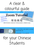 'Zoom' tutorial in Chinese for your private EFL students (BUNDLE 6 pages)