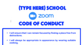 Zoom - Online Remote Learning Code of Conduct