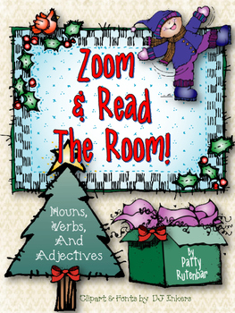 Nouns, Verbs, & Adjectives - Zoom & Read the Room