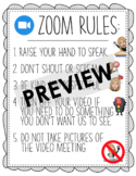 Zoom Rules for Students