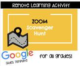Zoom Scavenger Hunt- Google Slides Activity