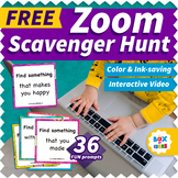 Zoom Scavenger Hunt: Virtual Distance Learning Games for Home
