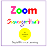 Zoom Scavenger Hunts Digital Distance Learning Editable