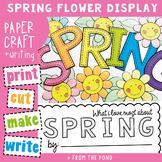 Spring Craft Bulletin Board Display and Writing