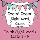 Zoom! Zoom! Dolch Sight Word Game - Pink Cards #MarkdownMonday