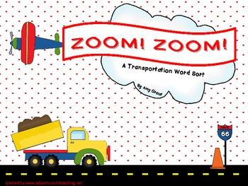 Zoom! Zoom! Transportation Word Sort