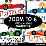 Subitizing Game {Zoom to Six} - Counting Math Center