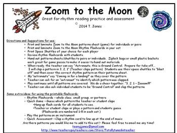 Zoom to the Moon Bundle of Rhythm Concept Games for Music
