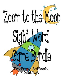 Zoom to the Moon Sight Word Bundle