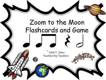 Zoom to the Moon half note (Music: Rhythm Concept Game)