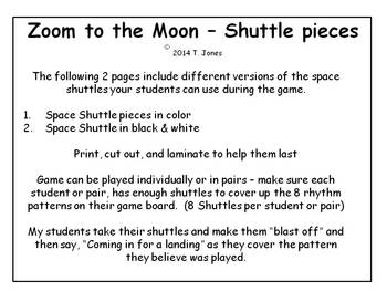Zoom to the Moon ta ti-ti rest Rhythm Concept Game