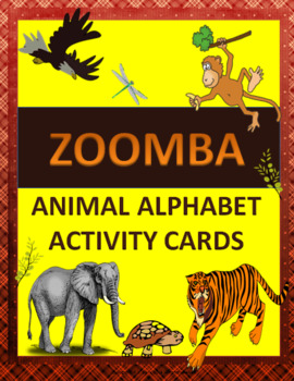 Zoomba Animal Alphabet Activity Cards