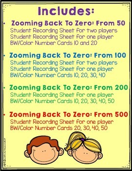 Zooming Back To Zero:  Subtraction Games From 50, 100, 200 and 500