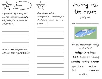 Zooming into the Future Trifold - 3rd Grade Literacy by Design Theme 6