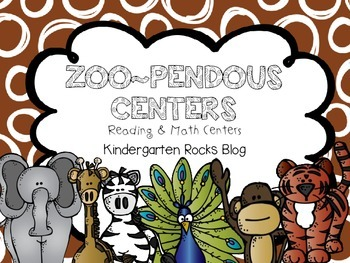 Zoopendous Math & Literacy Centers