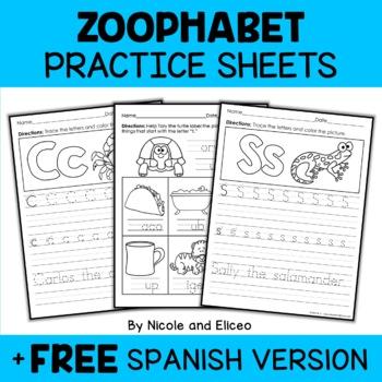 Zoophabet Alphabet Practice Sheets