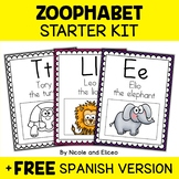 Phonics Posters - Zoo Theme Alphabet