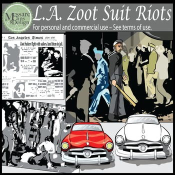 Zoot Suit Riot Clip Art - Los Angeles 1943 {Messare Clips and Design}
