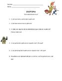 Zootopia Actividad de Escritura