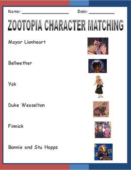Zootopia Activities - FUN!  Top Seller