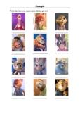 Zootopia - Character Identification Worksheet
