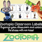 Zootopia Classroom Supply Labels