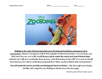 Zootopia Movie Guide and Response