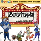 Zootopia Movie Pack   GOOGLE SLIDES AND FORM included   Distance Learning