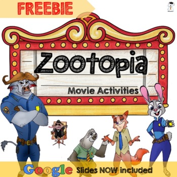 FREE Zootopia Movie Worksheets