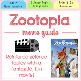 Zootopia Movie Guide l Questions l Worksheets