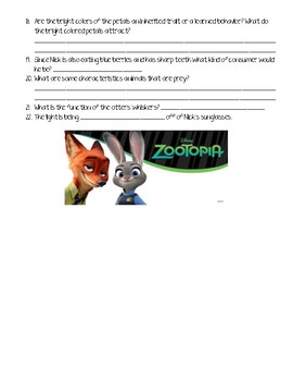Zootopia Science Movie Questions