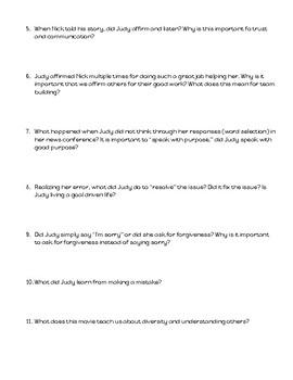 Zootopia Movie Questions