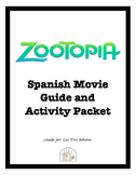 Zootopia Spanish Movie Guide and Activity Packet