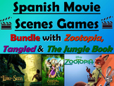 Zootopia, Tangled, and the Jungle Book Spanish Movie Games Bundle