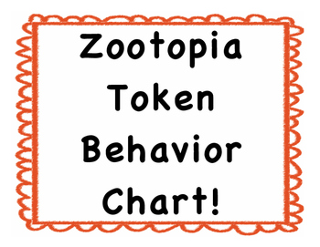 Zootopia Token Behavior Chart!