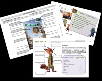 Zootopia - Worksheets & lesson tests